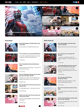 Video Best Video WordPress Theme For Bloggers