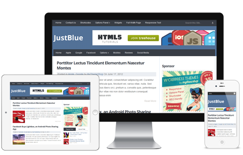 JustBlue - Free Premium Responsive WordPress Theme @ MyThemeShop