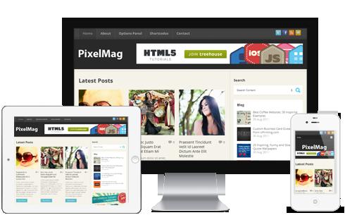PixelMag - Simple WordPress Blog Theme @ MyThemeShop
