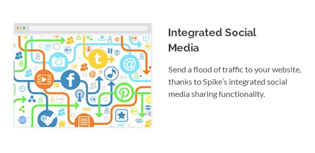 Send a flood of traffic to your website, thanks to Spike's integrated social media sharing functionality.