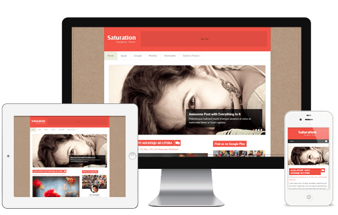 Saturation WordPress Theme