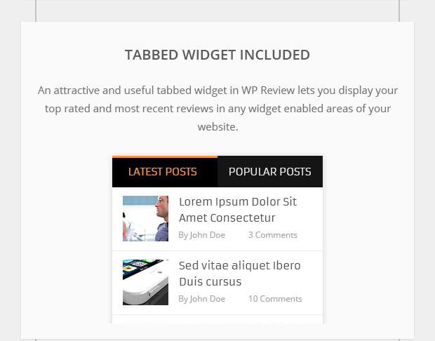 Tabbed Widget Included