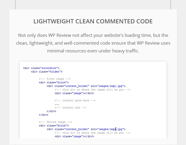 Lightweight Clean Commented Code