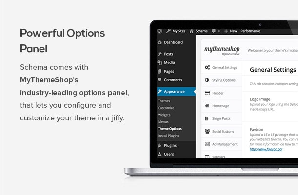 Schema comes with MyThemeShop's industry-leading options panel, that lets you configure and customize your theme in a jiffy.
