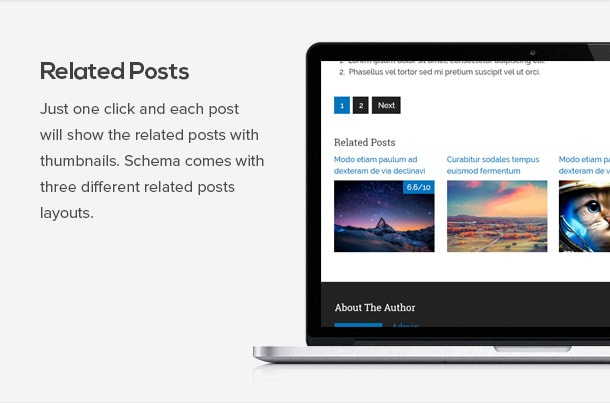 Just one click and you can add related posts with thumbnails on every posts.