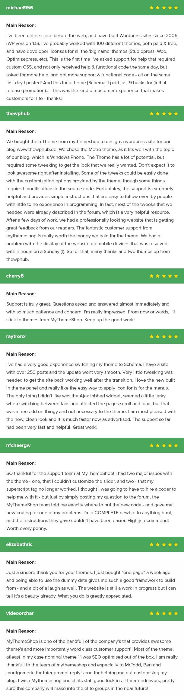 OnePage Testimonials
