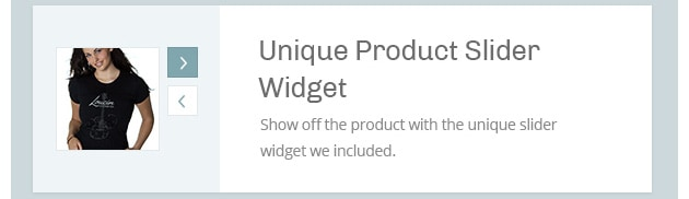 Shoe off the product with the unique slider widget we included.