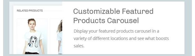 Display your featured products carousel in a variety of different locations and see what boosts sales.