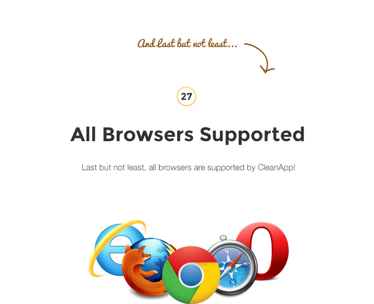 Last but not least, all browsers are supported by CleanApp!