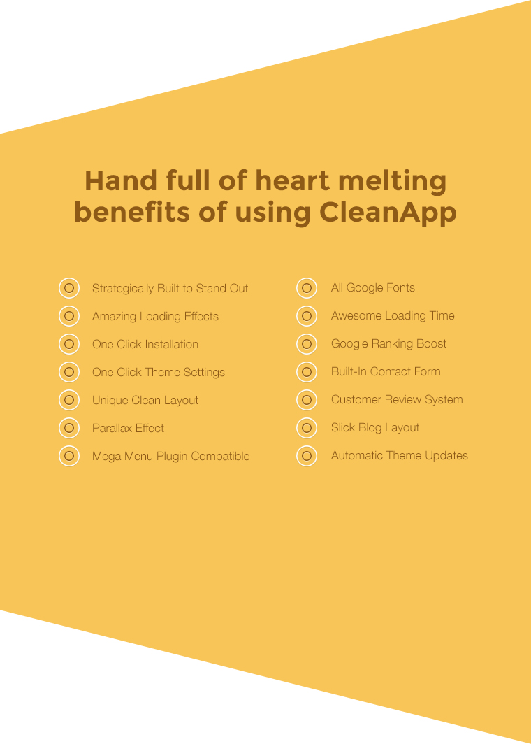 Just some of the benefits of using CleanApp