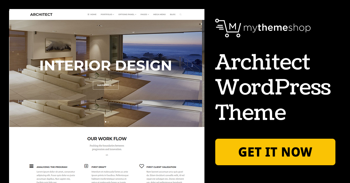 Architect beautiful business wordpress theme mythemeshop for Architecture wordpress