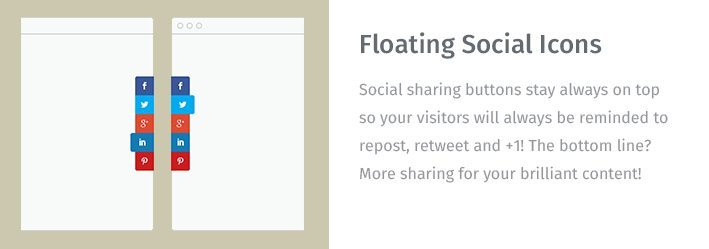 Floating Social Icons