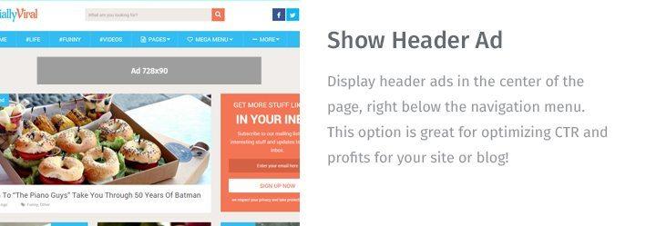 Show Header Ad