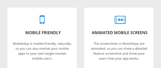 Mobile Friendly and Animated Mobile Screens