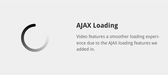 Video features a smoother loading experience due to the AJAX loading features we added in.