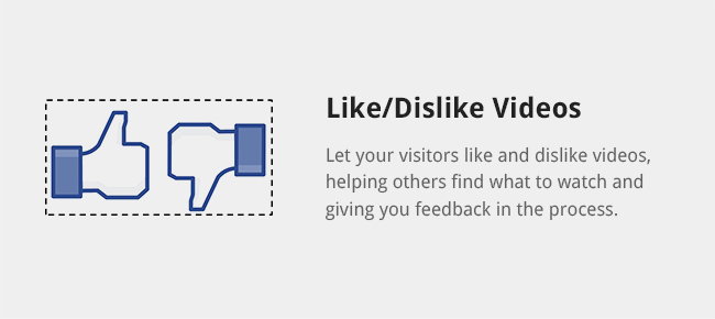 Let your visitors like and dislike videos, helping others find what to watch and giving you feedback in the process.