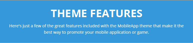 mobileapp theme features