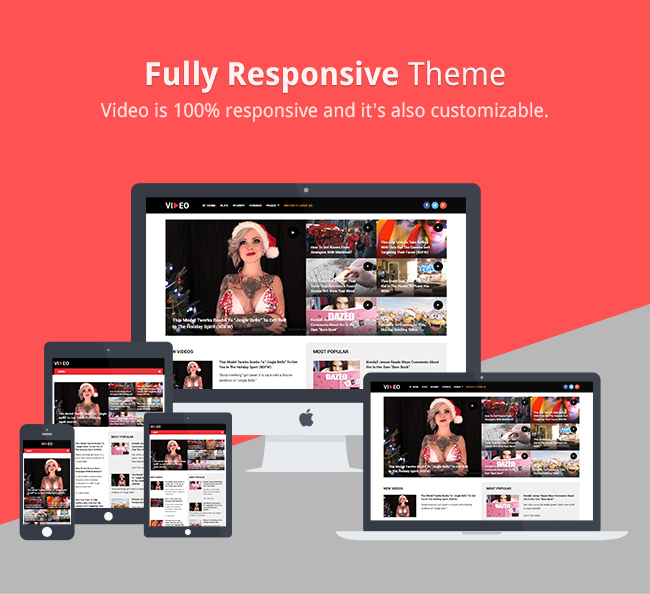 Video is 100% responsive and it's also customizable.