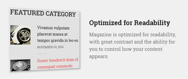 Optimized for Readability