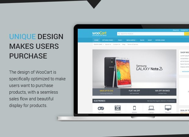 Unique Design makes users Purchase