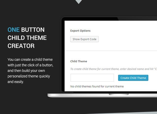 One Button Child Theme Creator