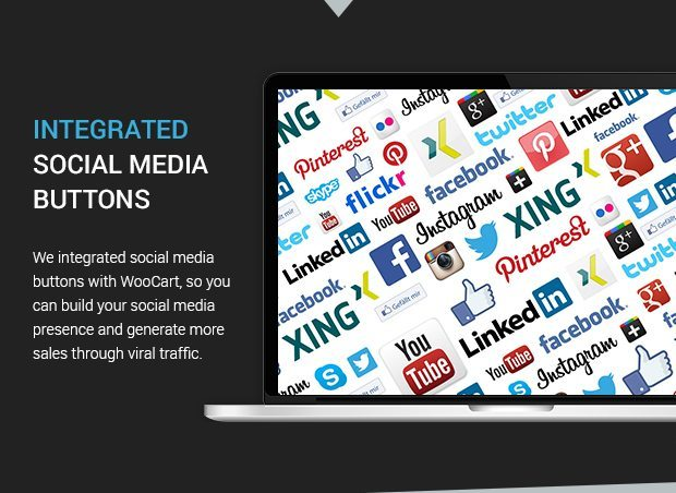 Integrated Social Media Buttons