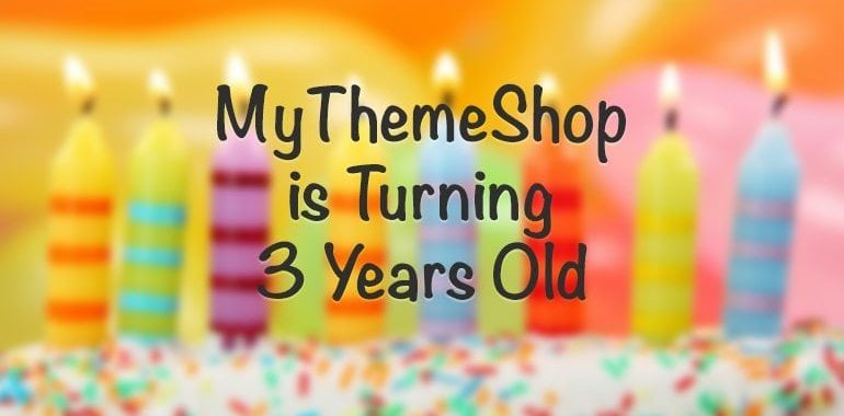 MyThemeShop 3 Years Old