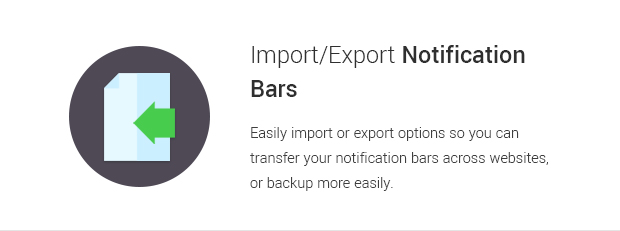 Import Export Notification Bars