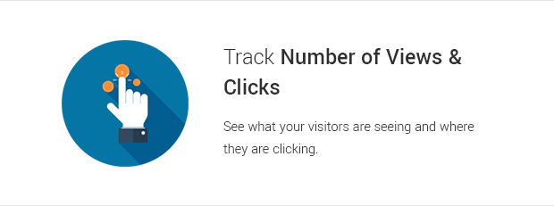 Track Number of Views and Clicks