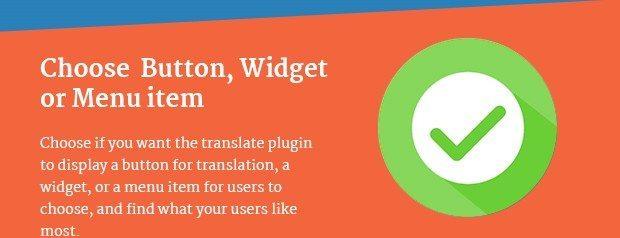 Choose Button Widget or Menu Item