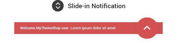 Slide in Notification