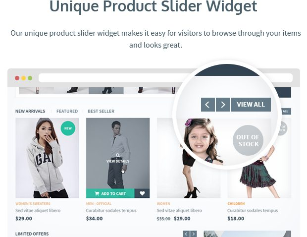 Unique Product Slider Widget