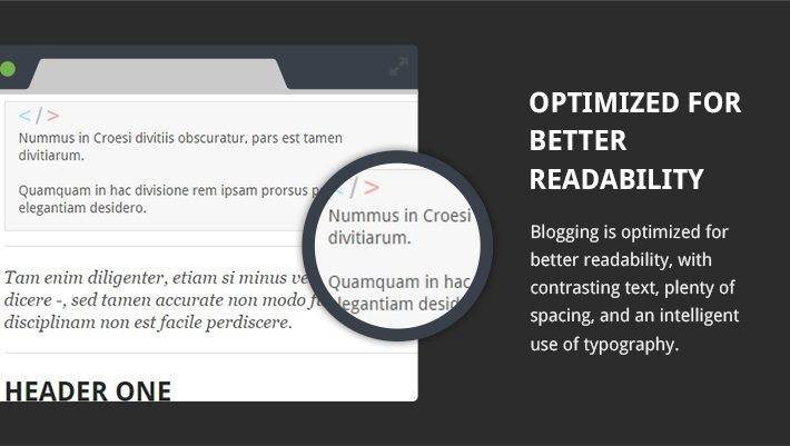 Optimized For Better Readability