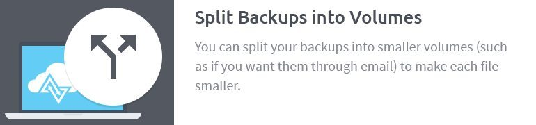 Split Backups into Volumes