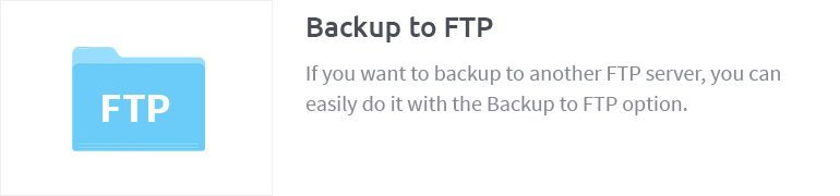 Backup to FTP