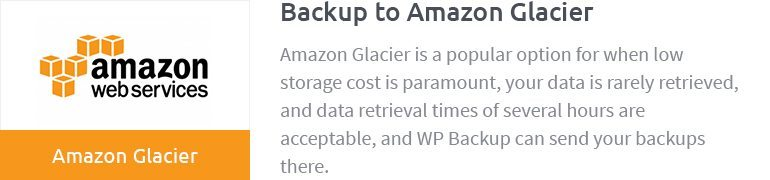Backup to Amazon Glacier