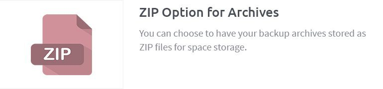 ZIP Option for Archives
