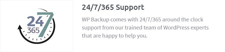 24/7/365 Support