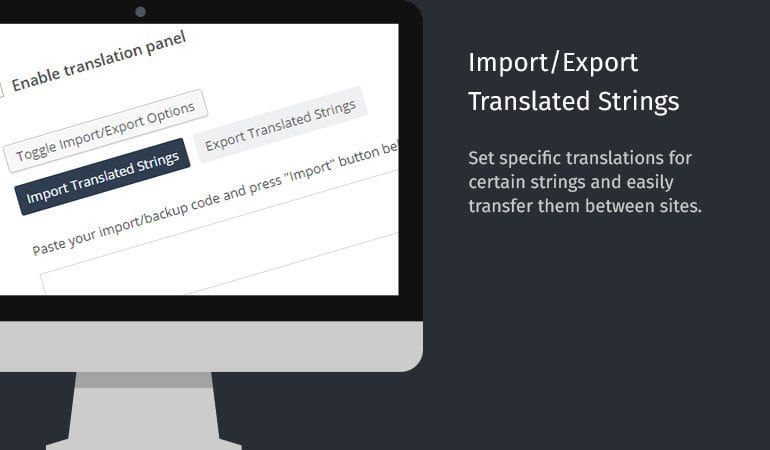 Import/Export Translated Strings