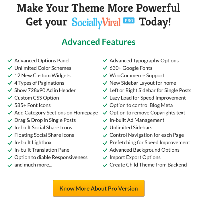 SociallyViral Pro Features
