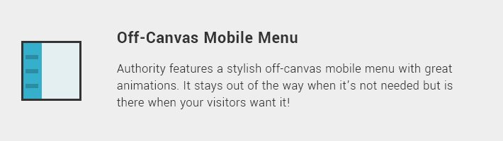 Off-Canvas Mobile Menu