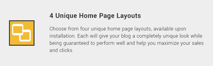 4 Unique Home Page Layouts