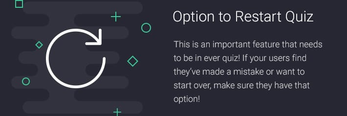 Option to Restart Quiz