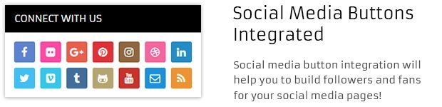 Social Media Buttons Integrated