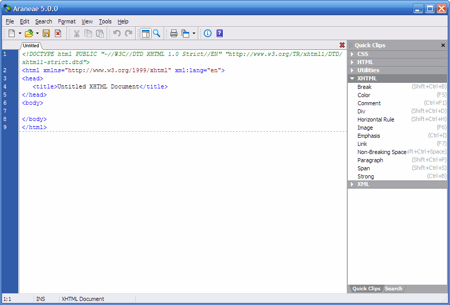 Araneae-code-editor