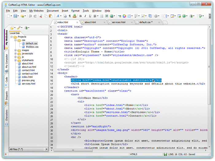 coffecup-html-editor