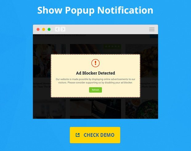 Show Popup if Adblocker is Detected