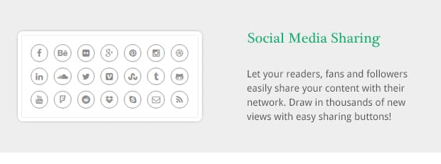 Let your readers, fans and followers easily share your content with their network. Draw in thousands of new views with easy sharing buttons!