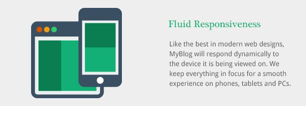 Like the best in modern web designs, MyBlog will respond dynamically to the device it is being viewed on. We keep everything in focus for a smooth experience on phones, tablets and PCs.