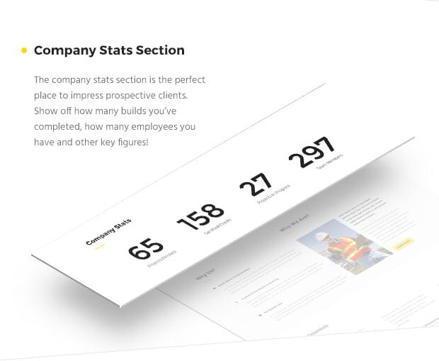 Company Stats Section